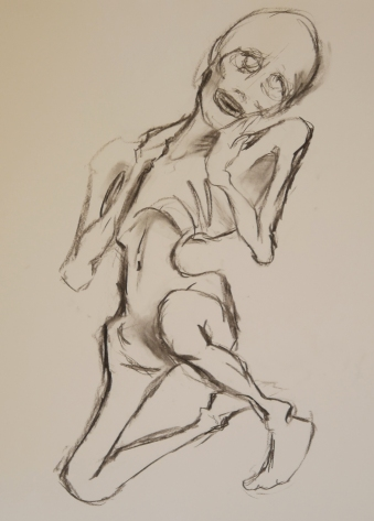 """Charcoal on Paper, 50000""""x4000"""""""